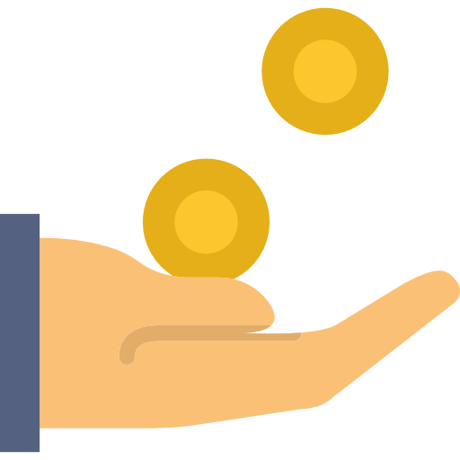 hand receiving coins