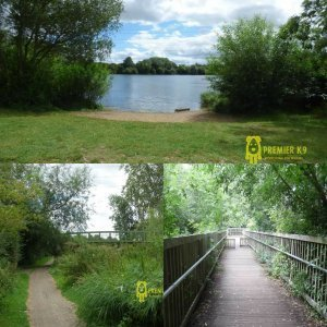 View of Tiddenfoot lake aswell as the tow path near by